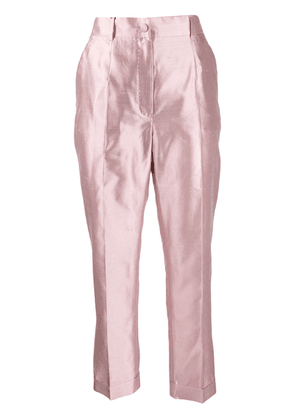 Dolce & Gabbana high-rise cropped trousers - Pink