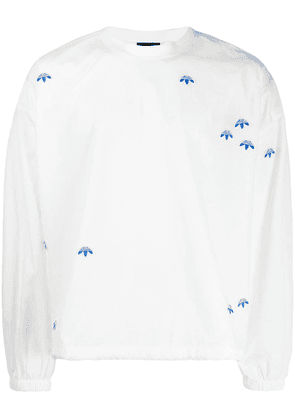 Adidas Originals By Alexander Wang crew neck logo sweatshirt - White