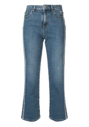 MSGM cropped jeans - Blue