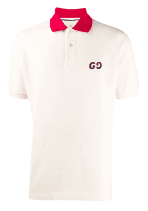 Gucci Polo with GG embroidery - Yellow