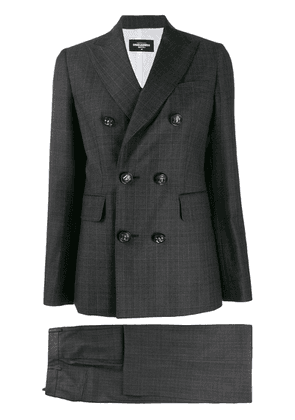 Dsquared2 checked two-piece suit - Black
