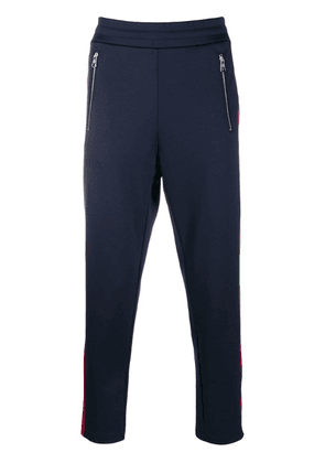 Moncler side-stripe track trousers - Blue