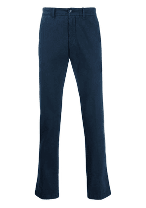 Moncler slim-fit tailored trousers - Blue