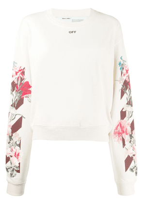 Off-White floral sweatshirt - Neutrals