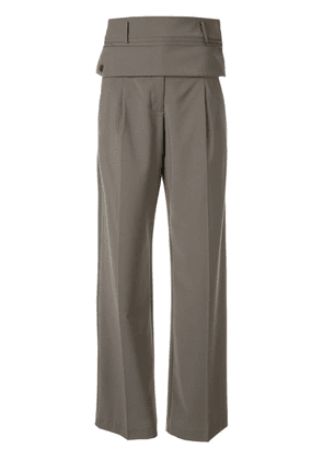 Christopher Esber double belted trousers - Green