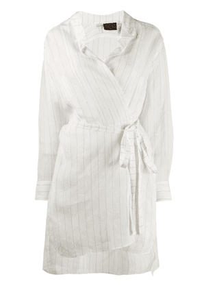 Loewe Paula striped wrap dress - White