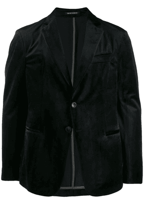 Emporio Armani tailored velvet blazer - Black