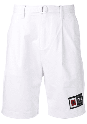 Tommy Hilfiger pleated twill shorts - White