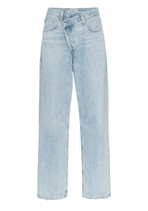 AGOLDE cross-over straight-leg jeans - Blue