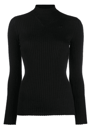 Courrèges turtleneck sweatshirt - Black