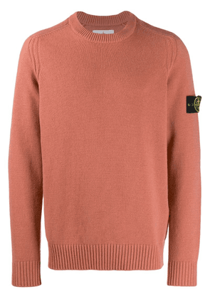 Stone Island logo patch knitted sweater - Pink
