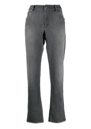 Brunello Cucinelli raw cuff jeans - Grey