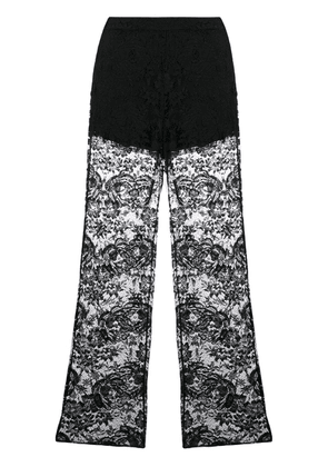 Prada lace flared trousers - Black