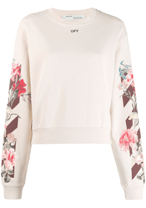 Off-White floral print sweatshirt - Neutrals