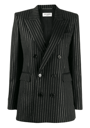 Saint Laurent striped double breasted blazer - Black