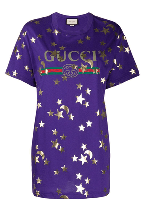 Gucci Stars and Moon-print T-shirt - Purple