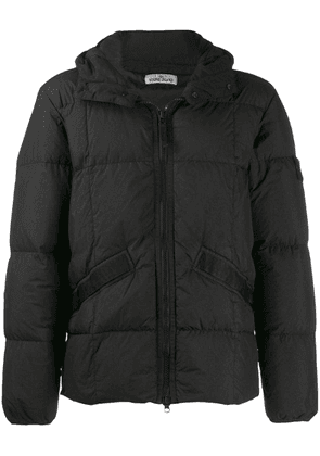 Stone Island padded hooded jacket - Black