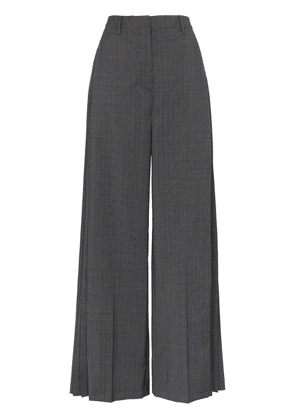 Prada checked pleat-detail tailored trousers - Blue