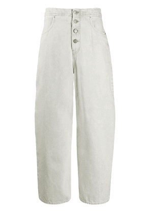 Mm6 Maison Margiela high-waisted wide leg jeans - Blue