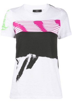 Diesel abstract print T-shirt - White