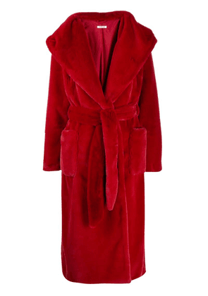 P.A.R.O.S.H. wrap coat - Red