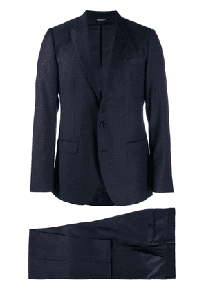 Dolce & Gabbana dotted two-piece suit - Blue