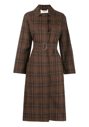 Ports 1961 checked trench coat - Brown