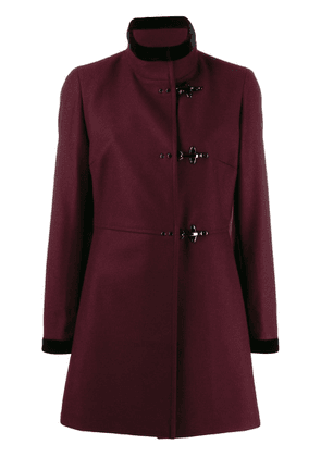 Fay velvet trim jacket - Red