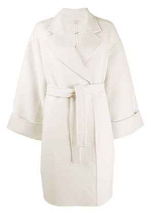 P.A.R.O.S.H. wrap coat - White