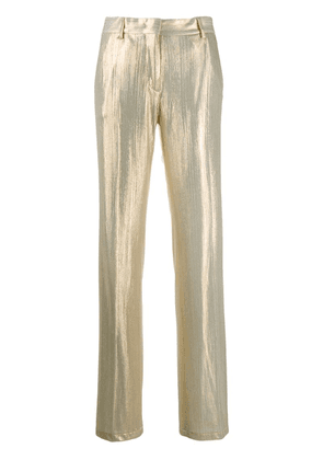 MSGM metallic straight trousers - Gold
