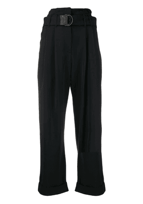 Brunello Cucinelli belted waist trousers - Black