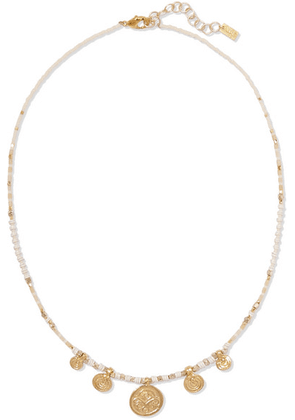 Chan Luu - Gold-tone Beaded Necklace - one size