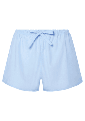 Sleepy Jones - Paloma Cotton-poplin Pajama Shorts - Light blue