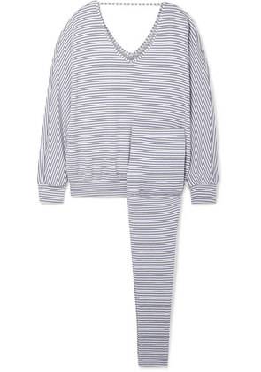 Eberjey - Sadie Striped Stretch-modal Jersey Pajama Set - Blue