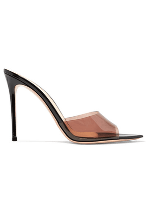 Gianvito Rossi - Alise 105 Pvc And Patent-leather Mules - Black