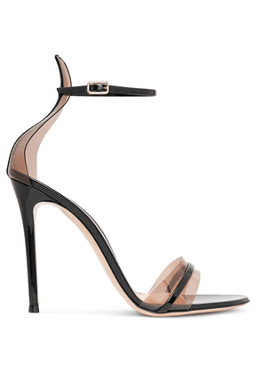 Gianvito Rossi - 105 Patent-leather And Pvc Sandals - Black