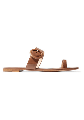Gianvito Rossi - Buckled Leather Sandals - Tan