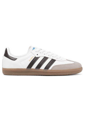 adidas Originals - Samba Og Leather And Suede Sneakers - White
