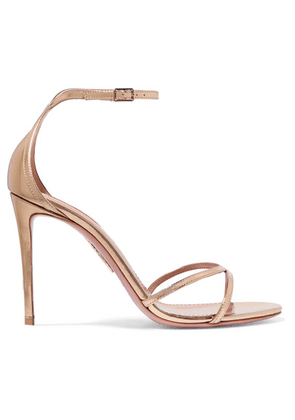 Aquazzura - Purist Mirrored-leather Sandals - Gold