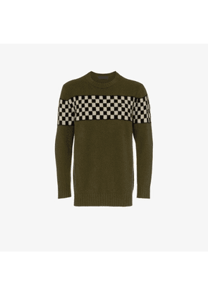 The Elder Statesman checkerboard cashmere jumper