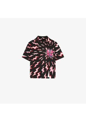 Prada Short-sleeved lightning bolt shirt