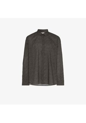 Saint Laurent mini heart print cotton shirt