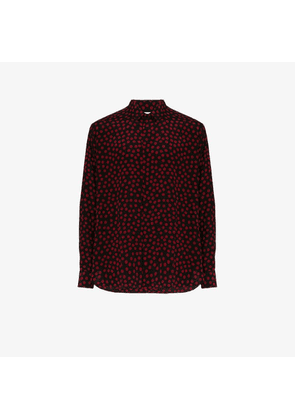 Saint Laurent polka dot crepe de chine shirt
