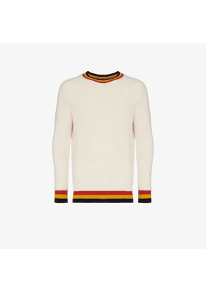 The Elder Statesman stripe-trim cashmere jumper