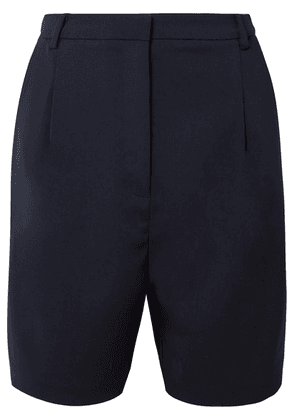Sally LaPointe - Stretch-crepe Shorts - Navy