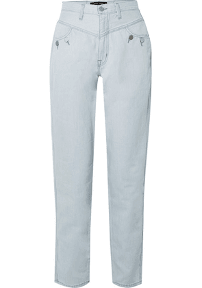 J Brand - + Elsa Hosk Playday High-rise Straight-leg Jeans - Blue