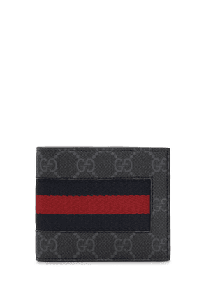 Coated Canvas Gg Wallet W/ Web