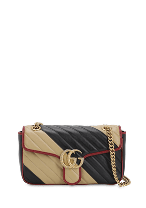 Small Gg Marmont 2.0 Bicolor Leather Bag