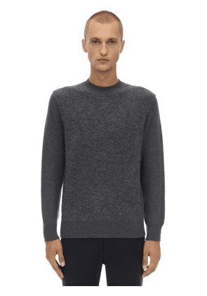 Crewneck Stretch Mohair & Wool Sweater