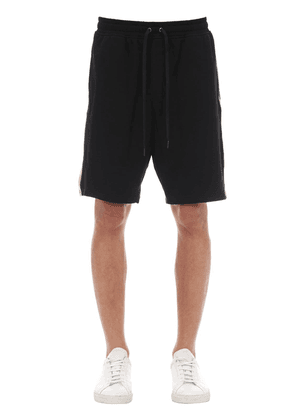 Logo Printed Cotton Blend Shorts